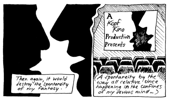 "excerpt from ""shut up and wait"" comic from 2009 - the tell-tale story of a kopfkino"