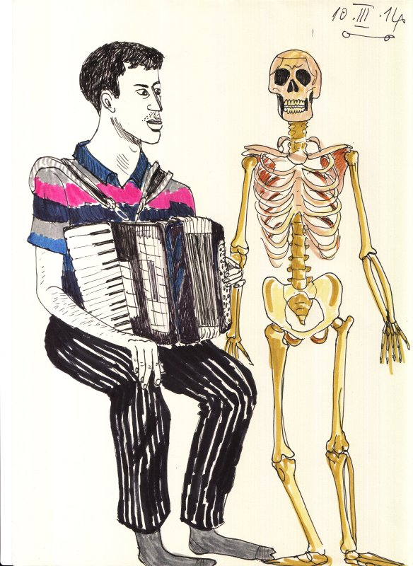 Accordion & skeleton