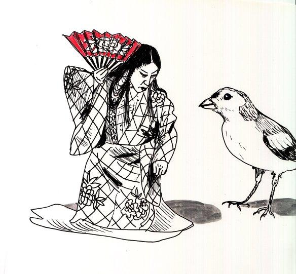 Kabuki et oiseau